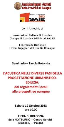 Il ruolo dell'acustica edilizia nei regolamenti locali dell'Emilia-Romagna